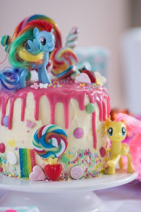 My Little Pony Torte Zum Vierten Geburtstag My Little Pony Geburtstag My Little Pony Vierten Geburtstag