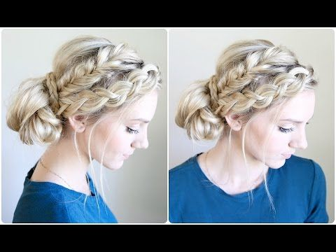 Mixed Braid Bun | Cute Girls Hairstyles - YouTube; Rachel, you\'re ...