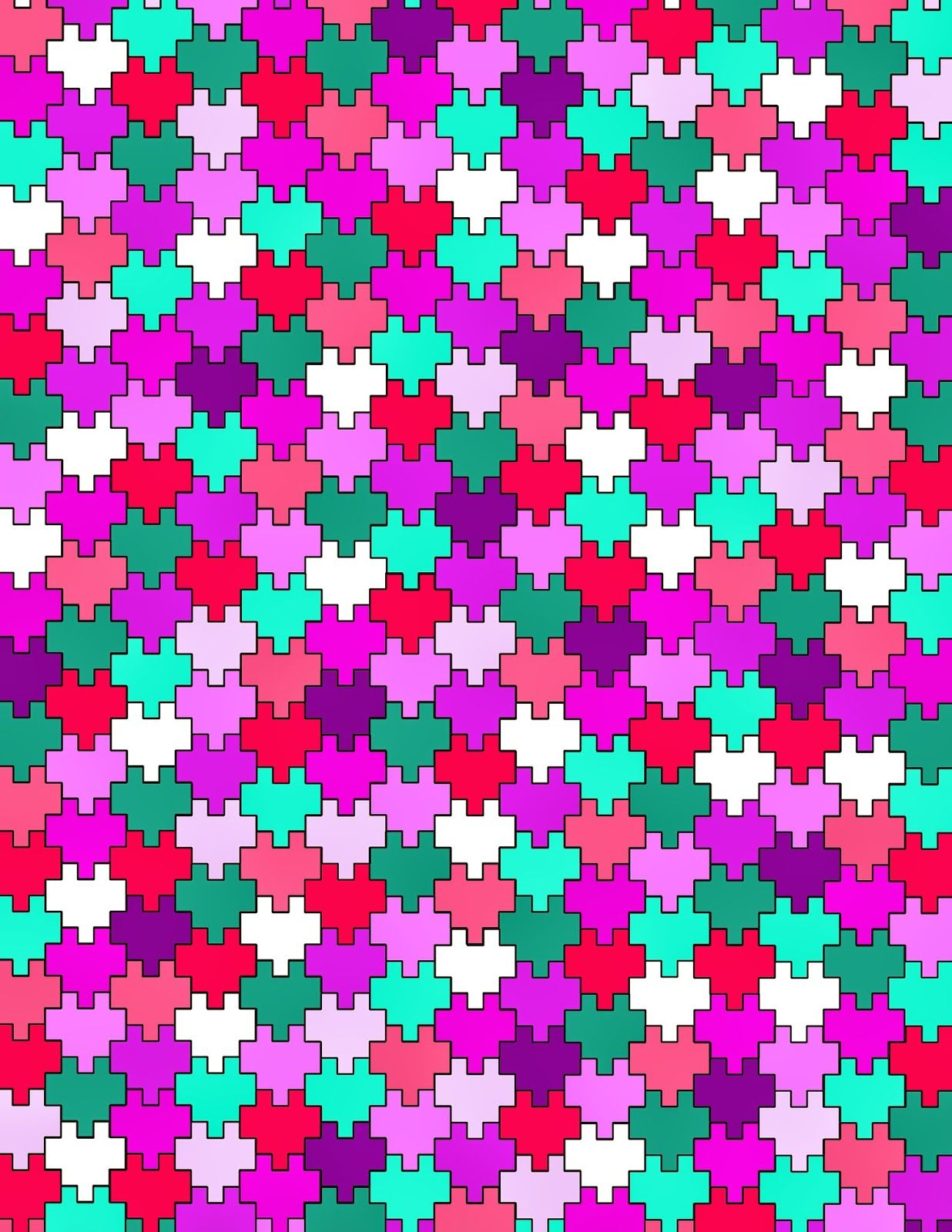 Minecraft Pixel Heart Tessellation Free Printable! | Anime/Manga ...