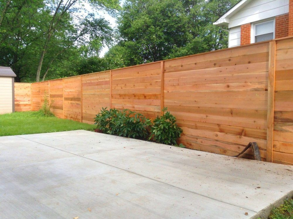 Best Brick Wood Fence Design - Train Positive Thinking ...