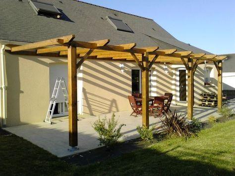Votre Magazine Pour Le Bricolage Et Le Jardinage Construire Pergola Bois Construire Une Pergola Pergola Bois
