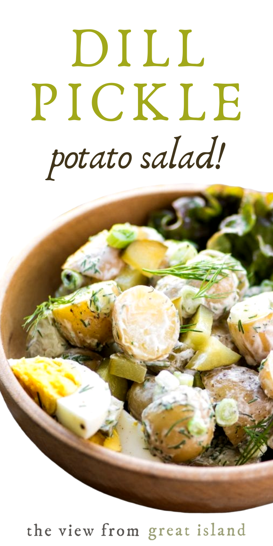 Creamy Potato Salad With Dill Pickles