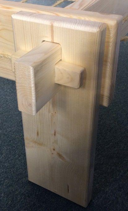 historisches steckbett 100x200 metallfrei mittelalter bett holzbett massivholz in sammeln. Black Bedroom Furniture Sets. Home Design Ideas