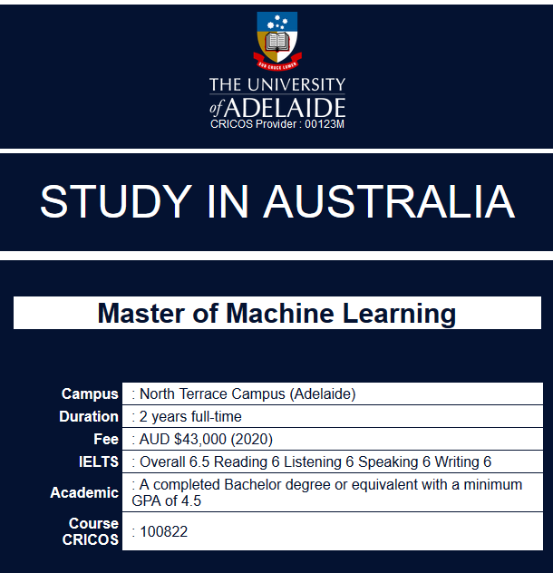 Study In Australia In The University Of Adelaide Master Of
