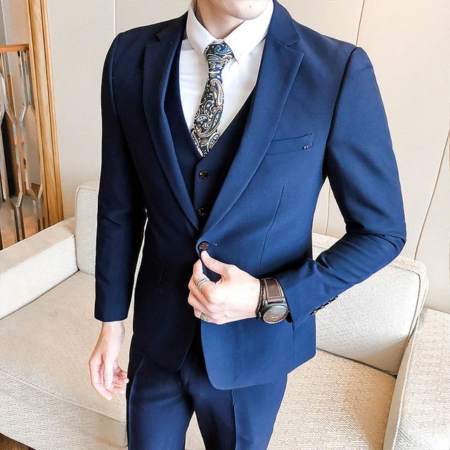 a5035cb152 2018 Spring And Summer New Gentleman Suit Men s Business Casual Fashion  Temperament British Style Professional Dress