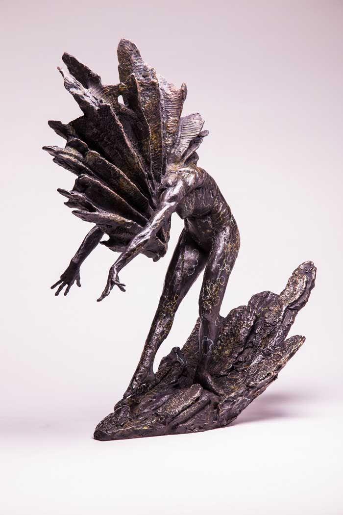 Ying Yang detals  Bronze Sculpture  modern art sculpture, sculpture