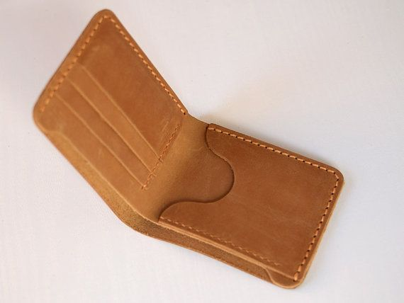 aa22f67b7 Handmade wallet Mens leather wallet Hand sewing Brown bifold wallet ...