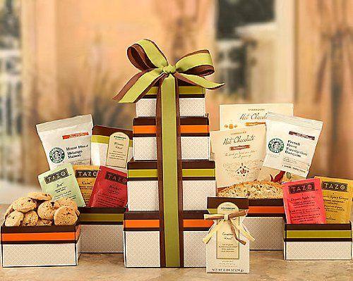 Nikki`s Gourmet Tazo Tea and Starbuck`s Gift Basket Tower