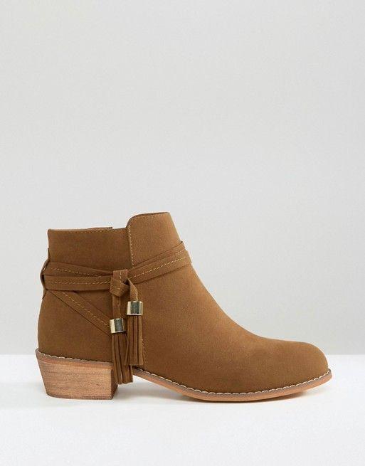 ASOS ACRUX Tassel Ankle Boots