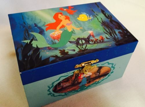 Disney The Little Mermaid Music Jewelry Box Vintage Part of Your