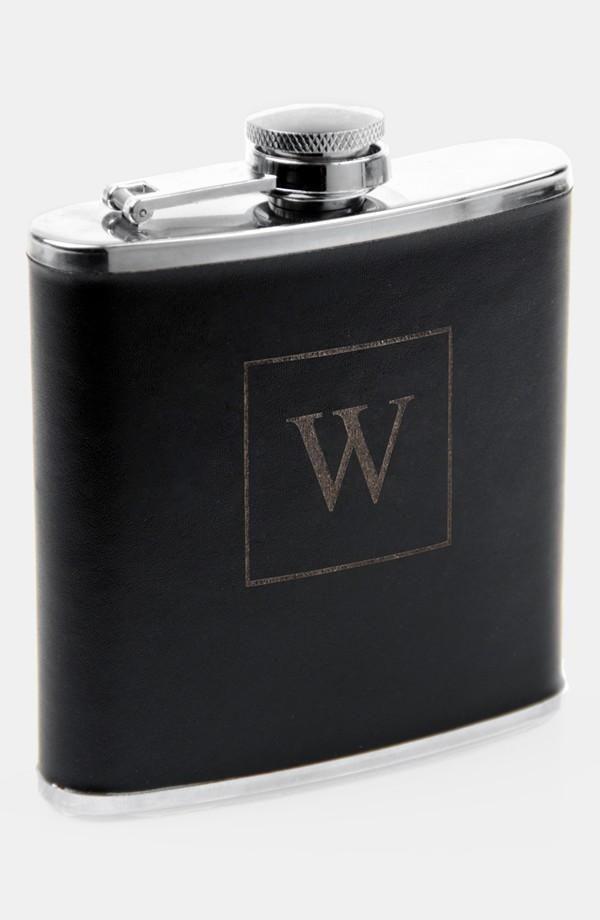 Monogrammed Stainless Steel Flask