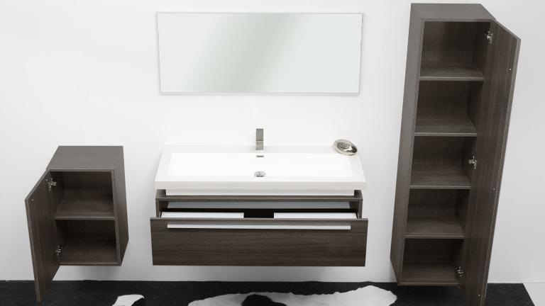 Meuble de salle de bain grande vasque 120 cm Sicily | SDB ...