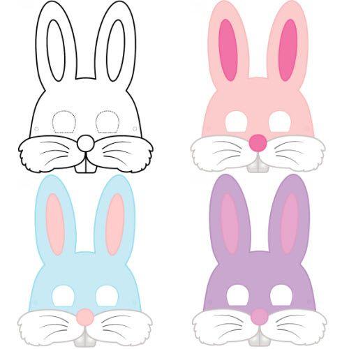 Mod le de masque de lapin au format pdf masques et couronnes pinterest pyssel - Masque de renard a imprimer ...