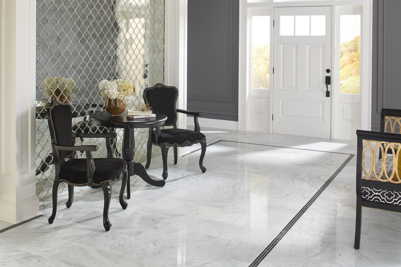 Antique Mirror Arabesque Glass Mosaic Foyer Flooring Floor