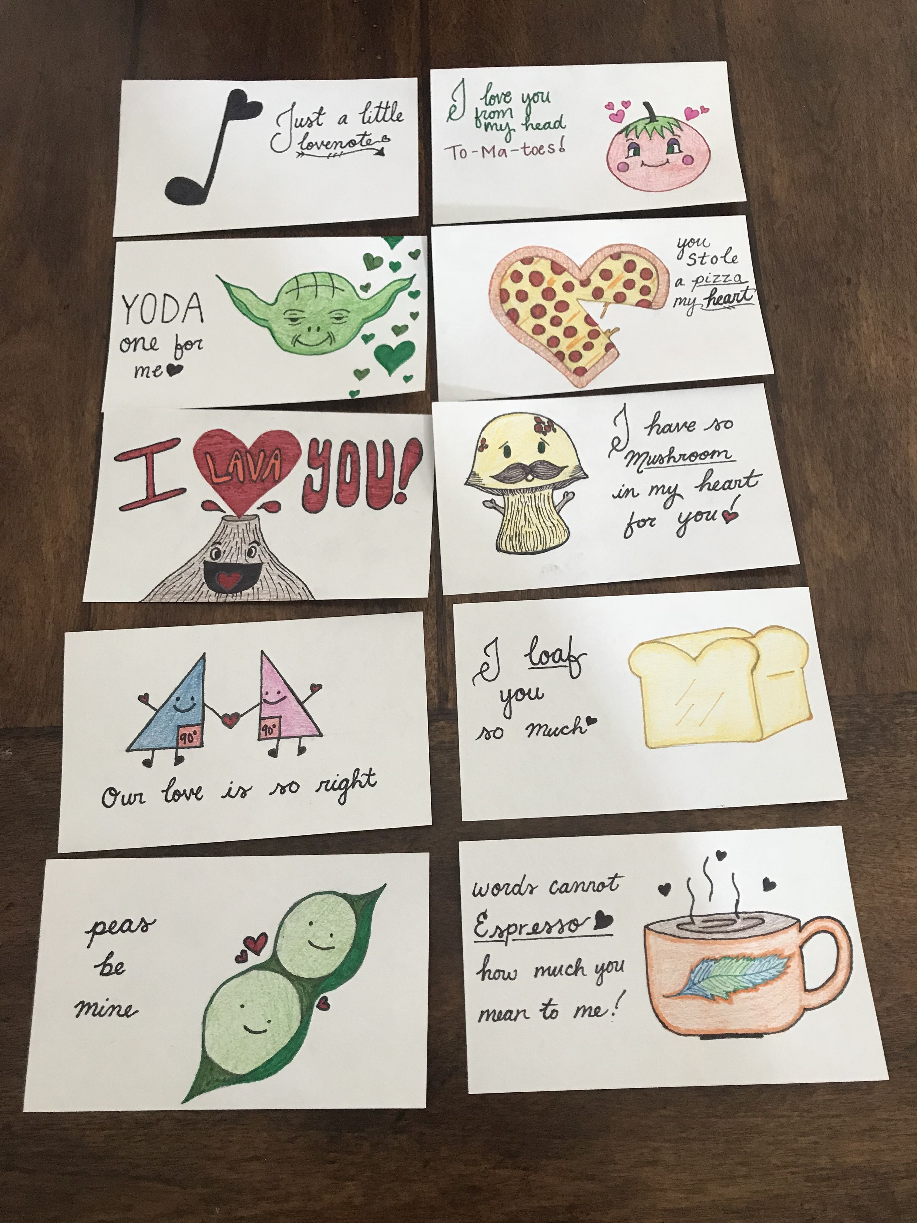 Cheesy Valentines Cards I Drew From Ideas On Here