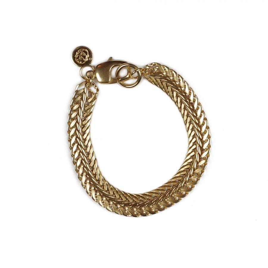 Bracelet ROBERT plaqué or - Adeline Affre