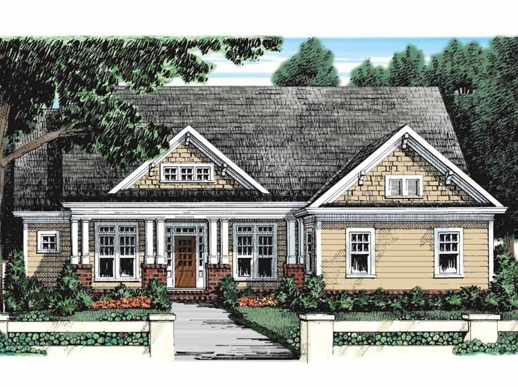 Eplans craftsman house plan bungalow breathes comfort for Www eplans com