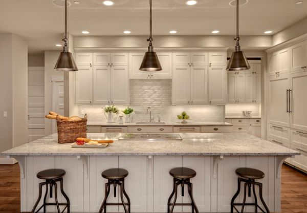 Elegant Add Character To Your Kitchen With Industrial Pendant Lights