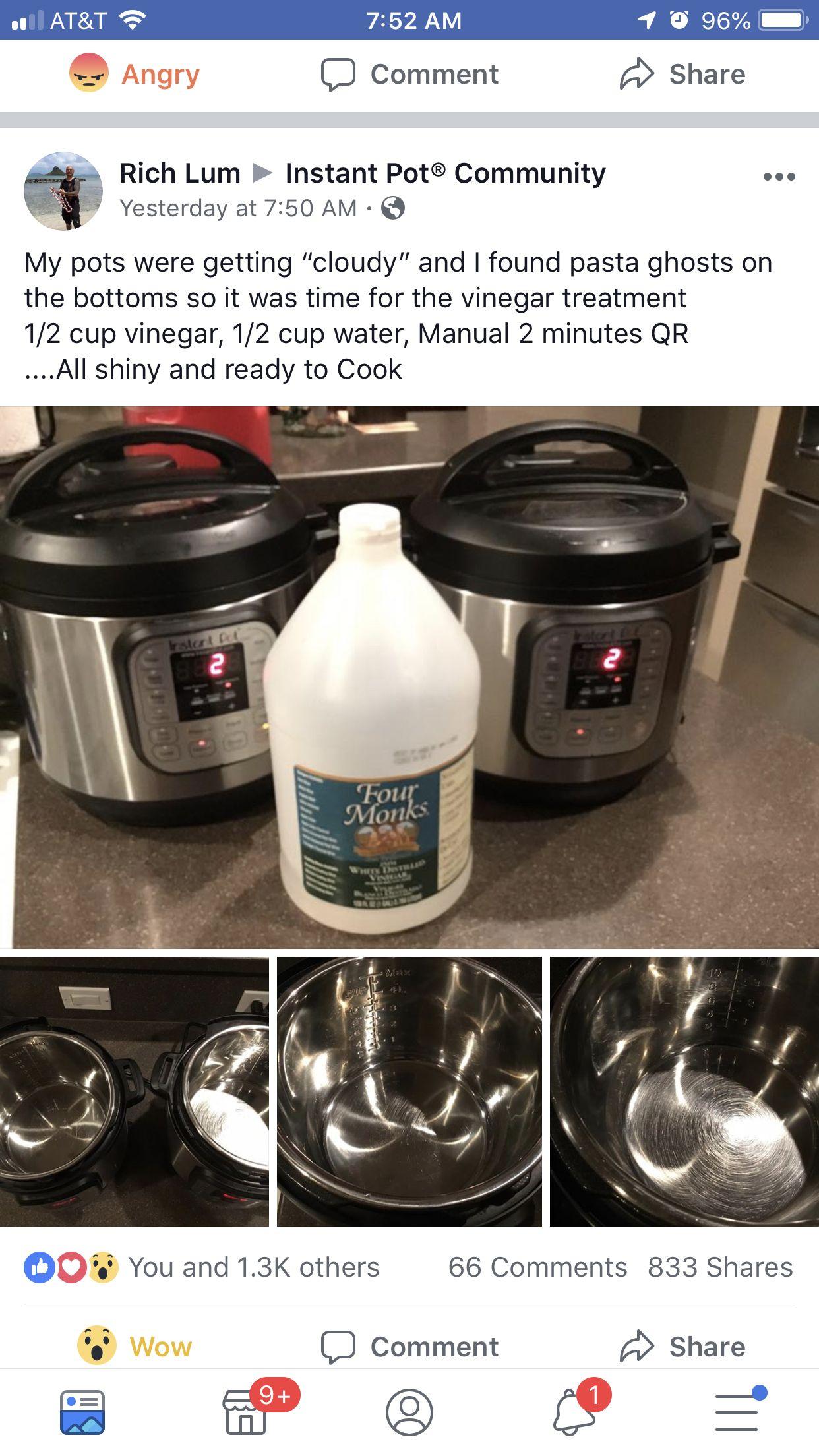Cleaning The Pot Instant Crock Pot Instant Pot Recipes Instant Pot Dinner Recipes