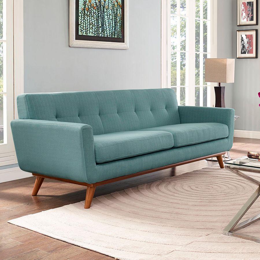 Gentil Light Blue Sofa