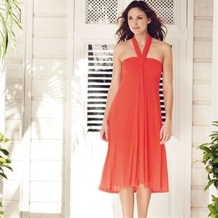 08ec3771525 Hot Coral Multi-Way Beach Dress