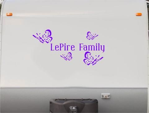 Butterflies Butterfly RV Camper Vinyl Decal Sticker Graphic Custom - Custom rv vinyl decals