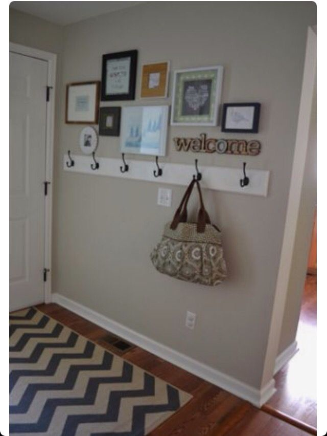 DIY HALLWAY HANGER : Very cool hallway idea for you to hang your ...