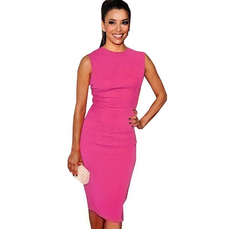 European Pop Star Plus Size Women Sleeveless summer Formal Business ...