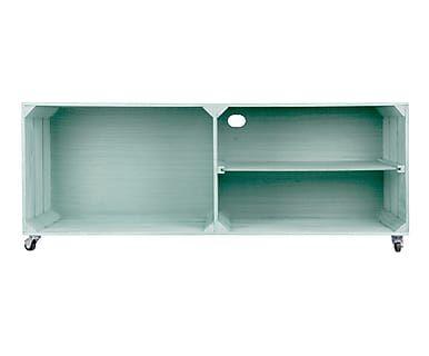 Mueble de TV en madera de pino - aguamarina | ideas en madera ...