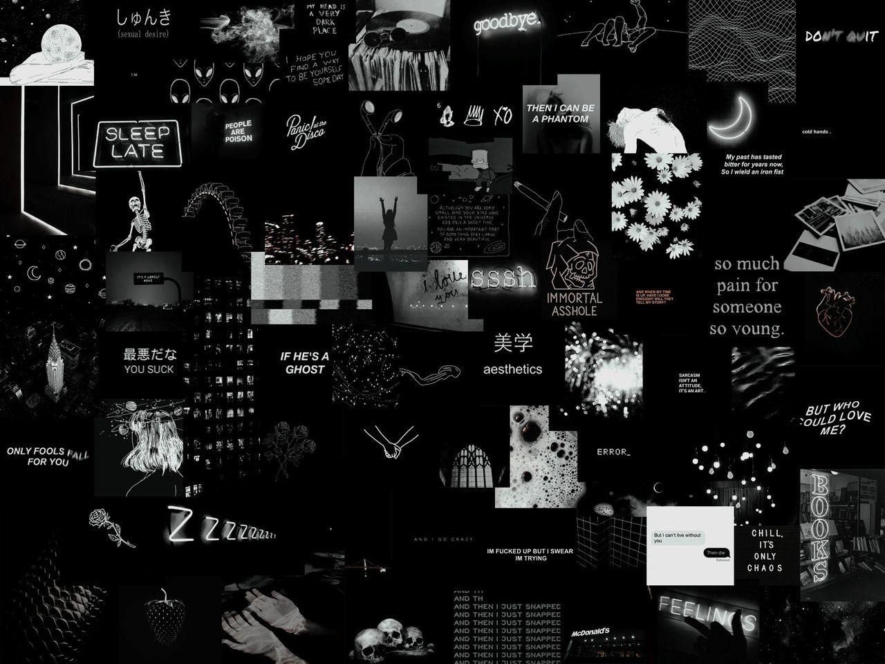 Black Aesthetic Aesthetic Desktop Wallpaper Desktop Wallpaper Art Laptop Wallpaper