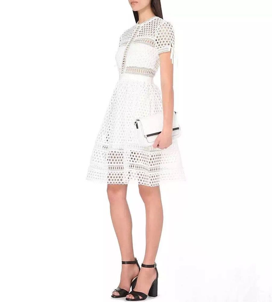 NWT Self-Portrait Macramé Lace Midi Dress UK10/US6 UK12/US8 #SelfPortrait #SP60711