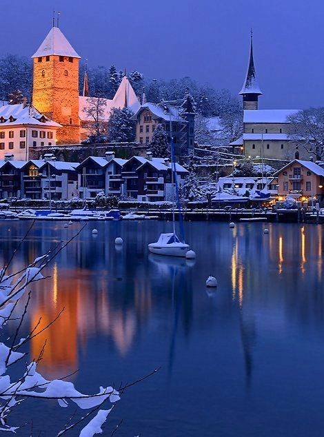 Fairytale Spiez Castle Canton Of Bern Switzerland By Stefan
