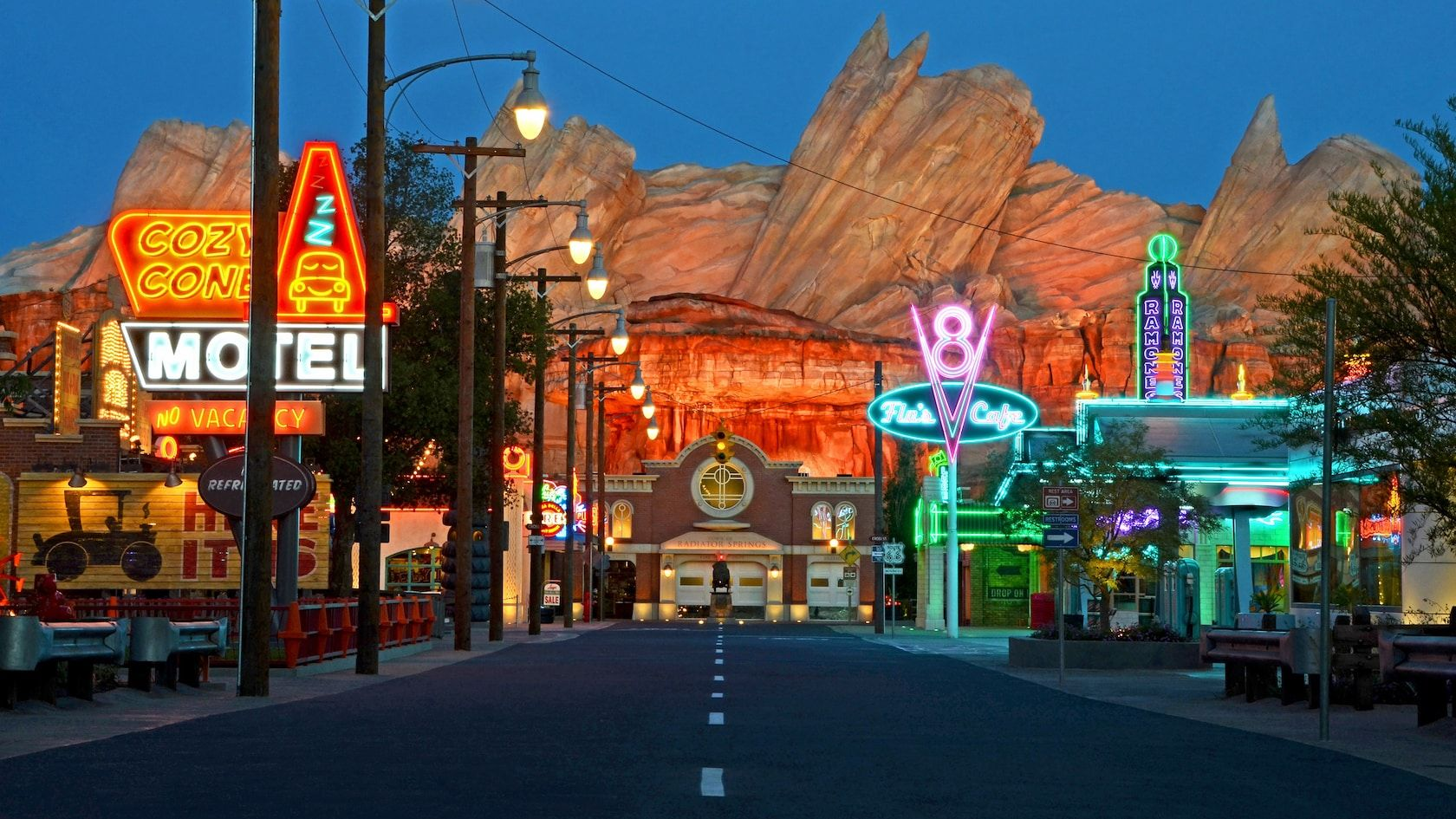Cars land is designed as a lifesize model and near exact