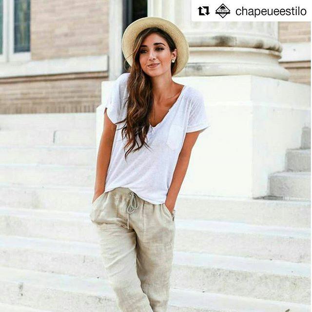 WEBSTA @ naiara_tadioto - #Repost @chapeueestilo with @repostapp・・・O Chapėu Panamá  cai super bem com um Look mais casual. Com tons claros, é difícil errar !#chapeupanama #queridinho / Só pros mosaicos ficarem certos e eu amo chapéu 👒