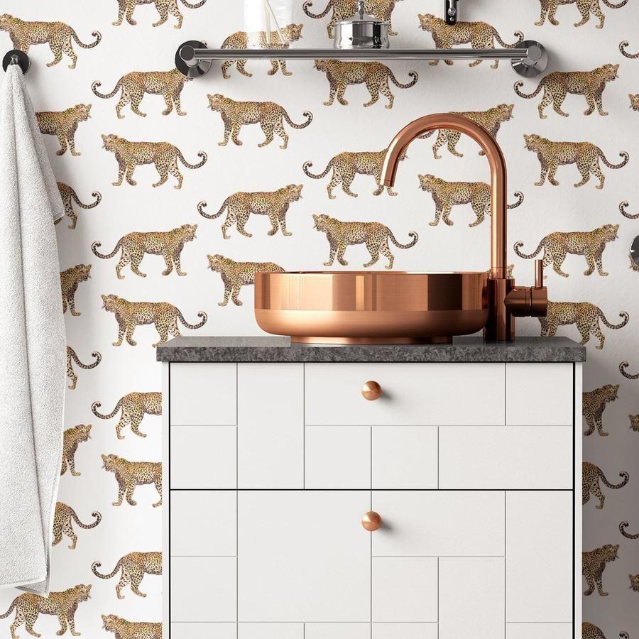 Cheetahs Peel Stick Wallpaper Cheetah Wallpaper Peel And Stick Wallpaper Powder Room Wallpaper