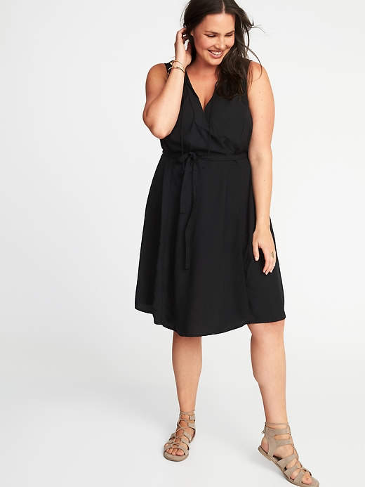 Old Navy Sleeveless Plus-Size V-Neck Swing Dress | Dresses ...