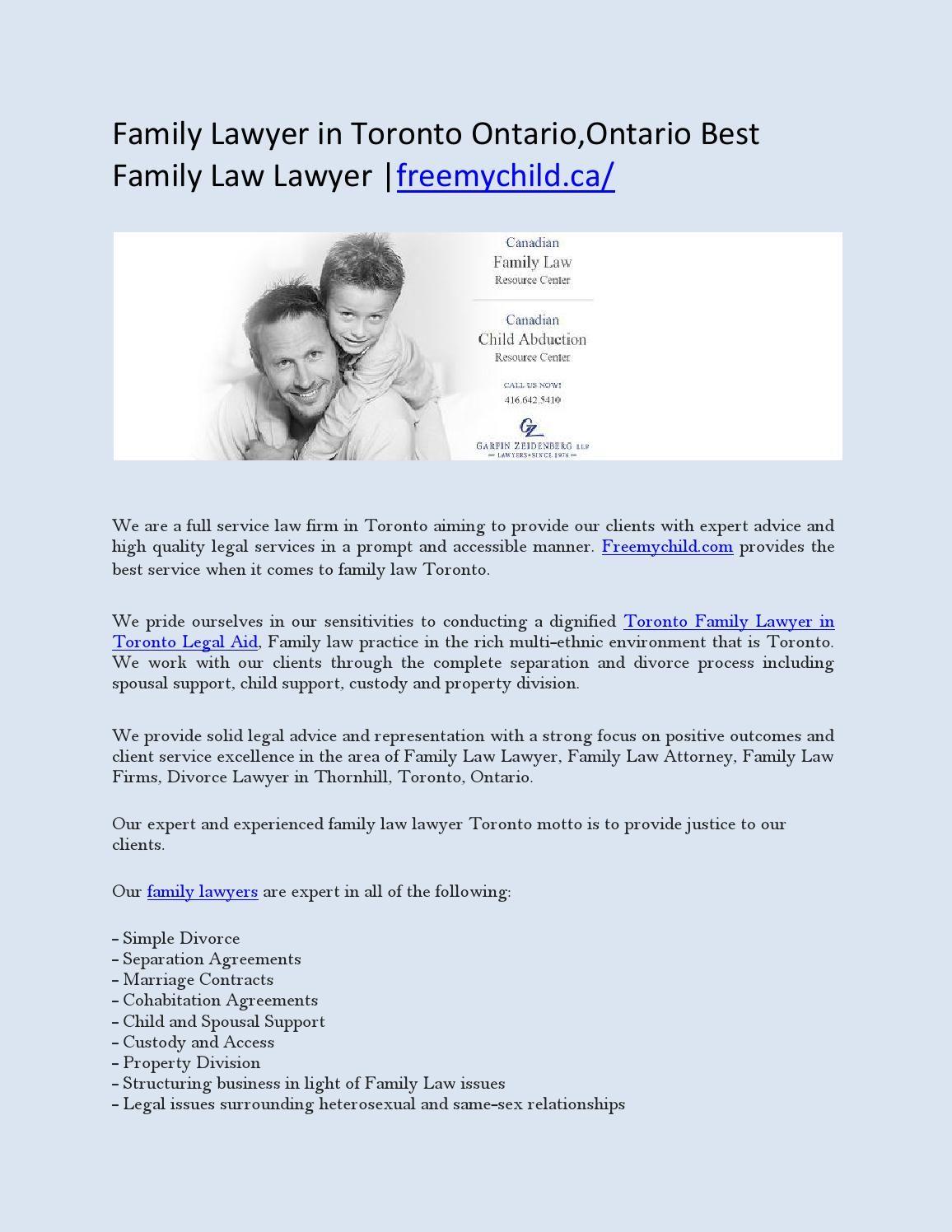Family Lawyer in Toronto Ontario,Ontario Best Family Law