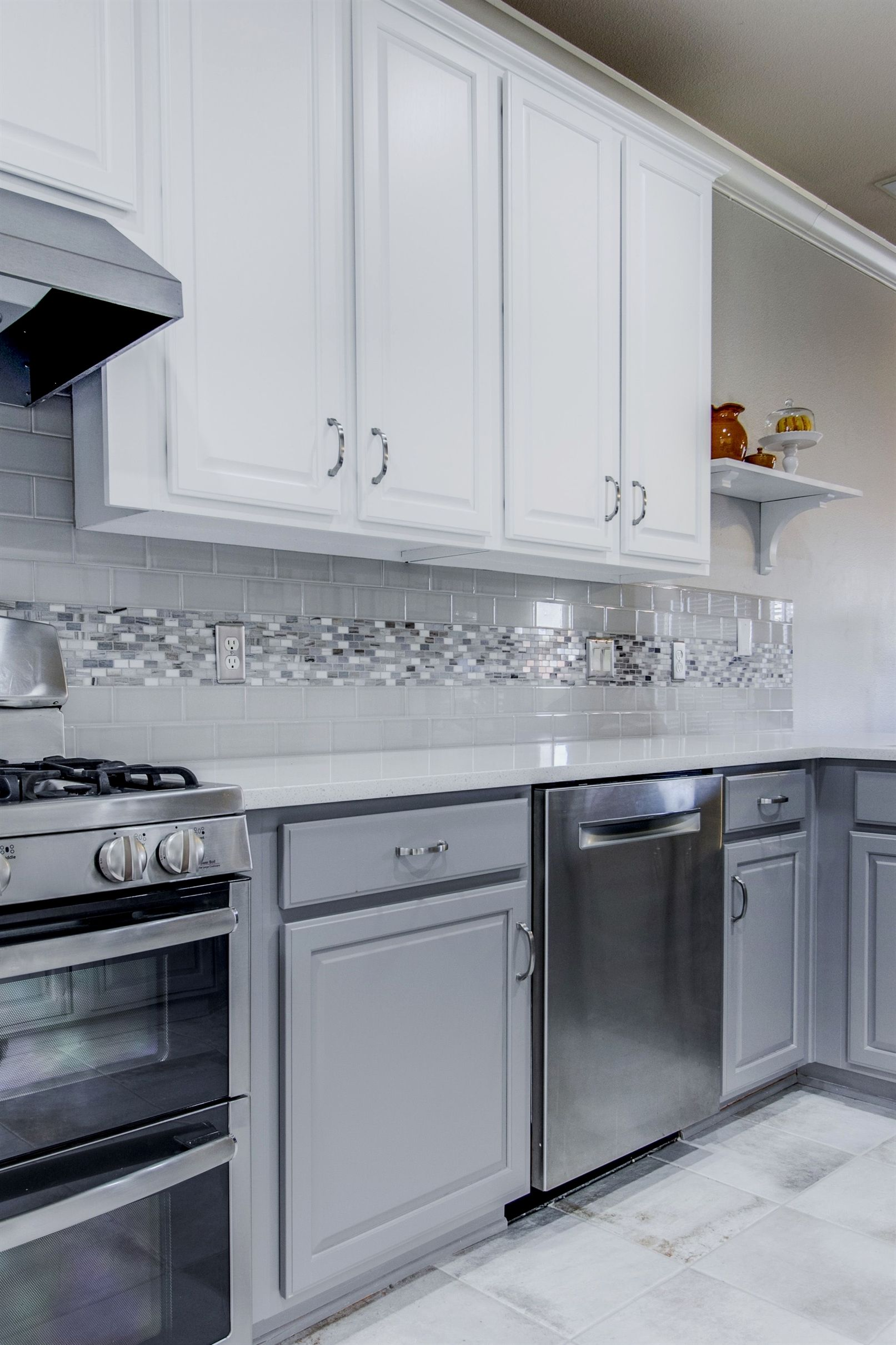 We Brought This Kitchen Up To Date By Painting The Existing Cabinets