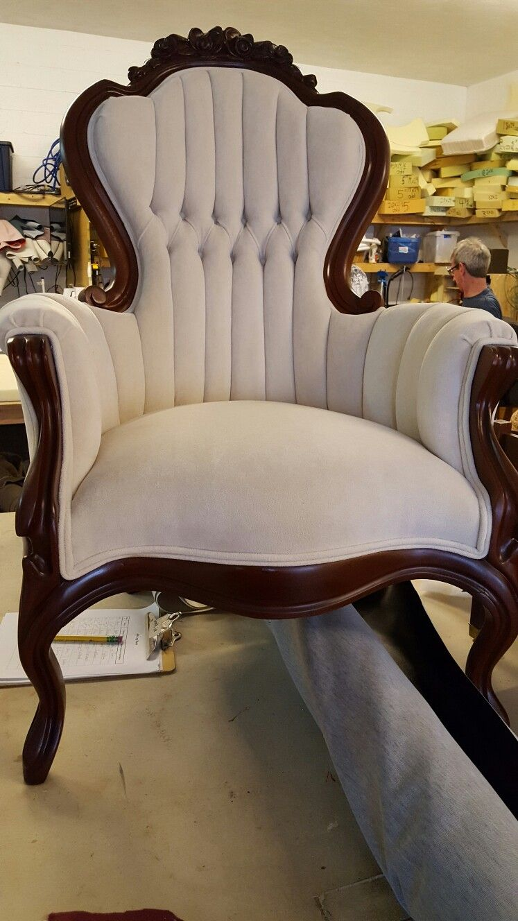 A reupholstered antique chair - A Reupholstered Antique Chair Nancy's Custom Upholstery
