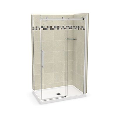 Maax Utile 48 Inch X 32 Inch Stone Sahara Corner Shower Kit With