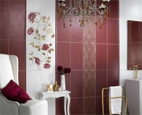 Bathroom Tiles Designs And Colors modern wall tiles in red colors creating stunning bathroom design