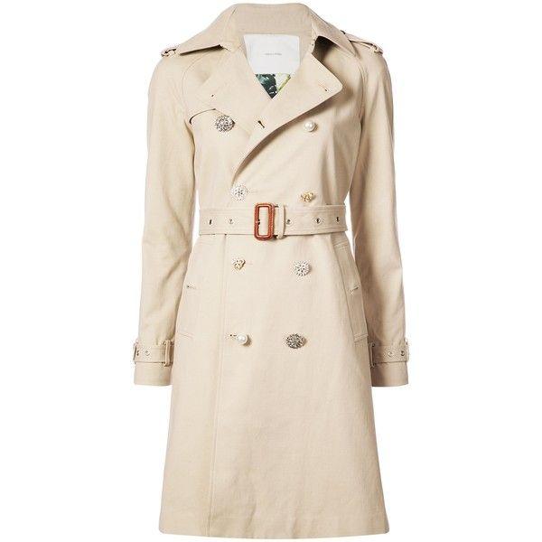 63f27f1261cb1 Adam Lippes Khaki Embellished Button Trench Coat ( 1