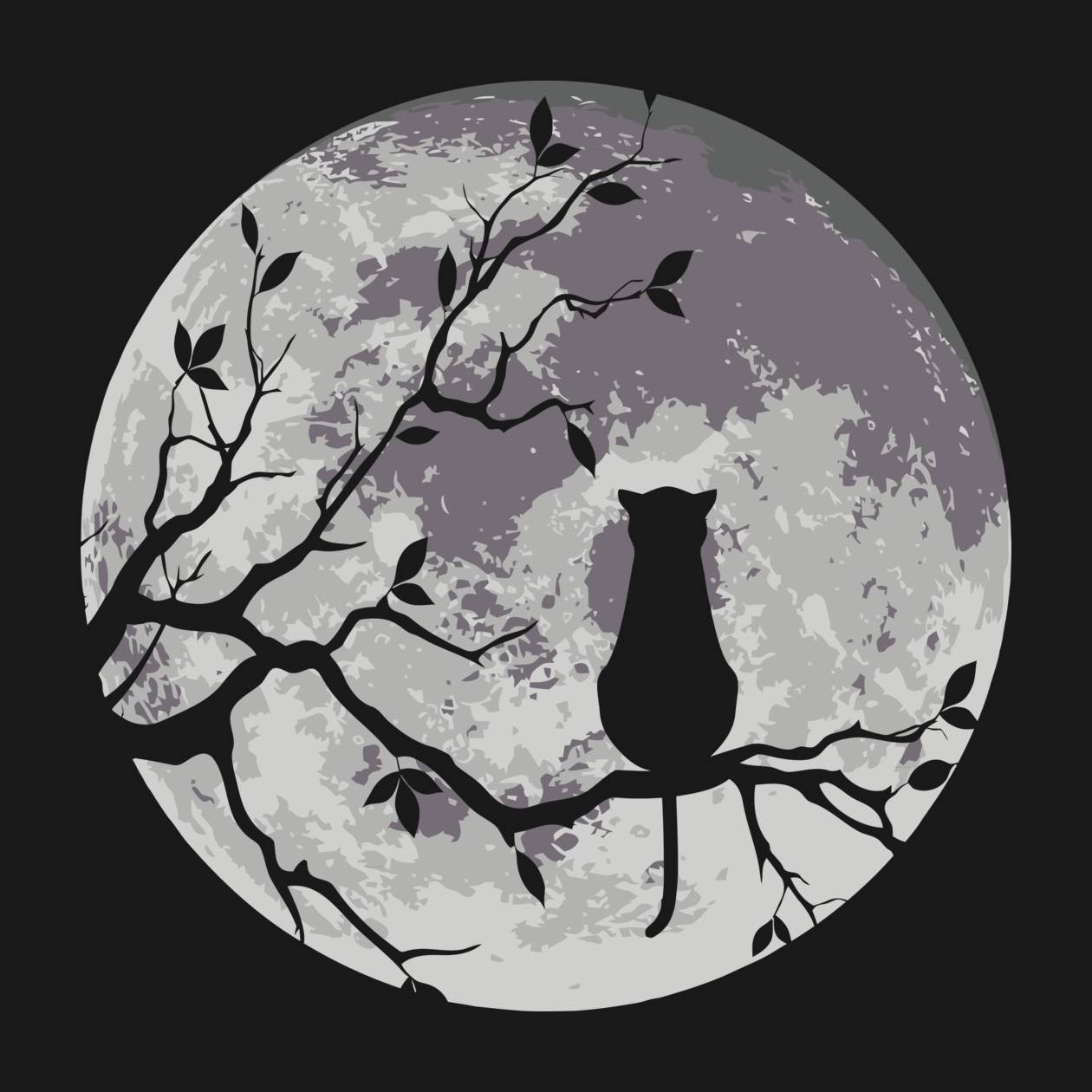Check out this awesome 'The+Cat+And+The+Moon' design on TeePublic! http://bit.ly/1vBluov
