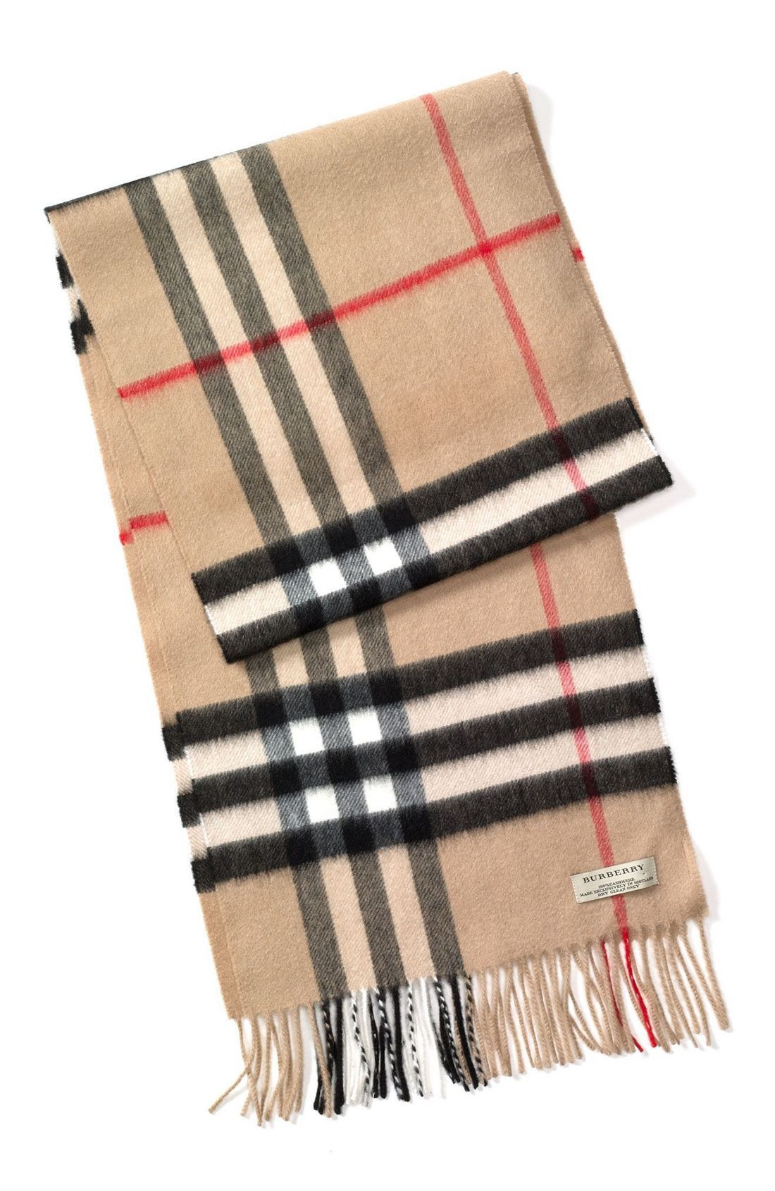 Heritage Check Cashmere Scarf | Burberry scarf, Scarves ...