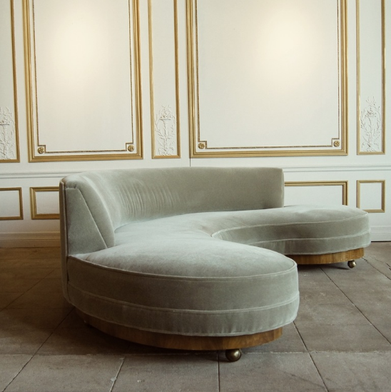 Vladimir Kagan; Sofa, 1950s. More