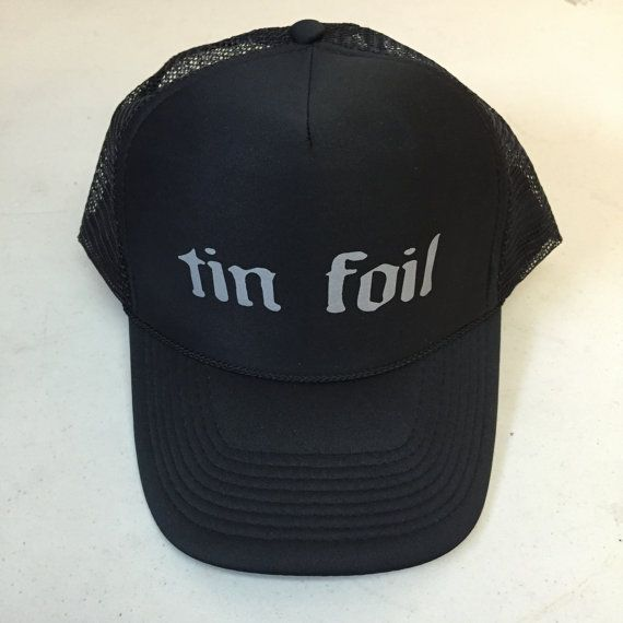 Tin Foil Hat  All black limited edition adjustable size