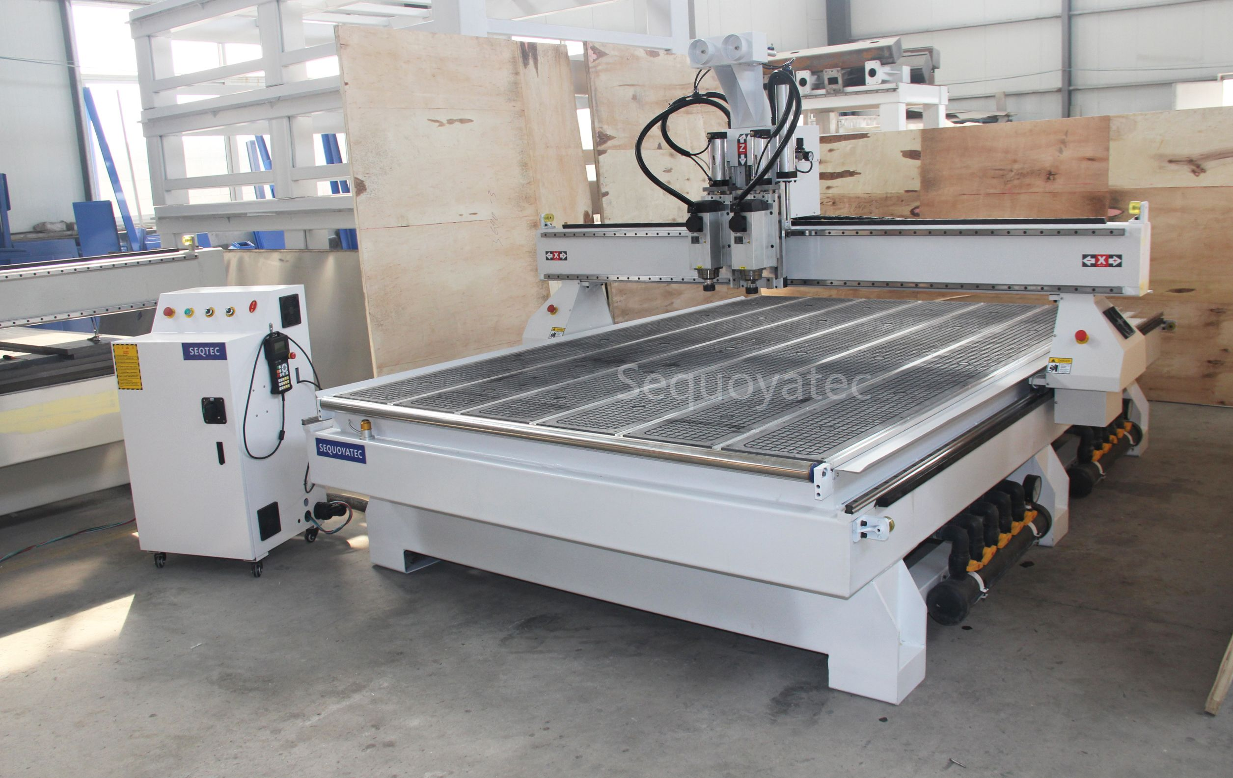 2 spindle cnc router , simple automatic tool change , Also