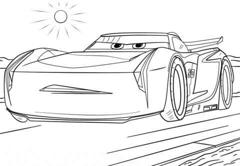 Jackson Storm from Cars 3 Coloring page | Cars | Pinterest