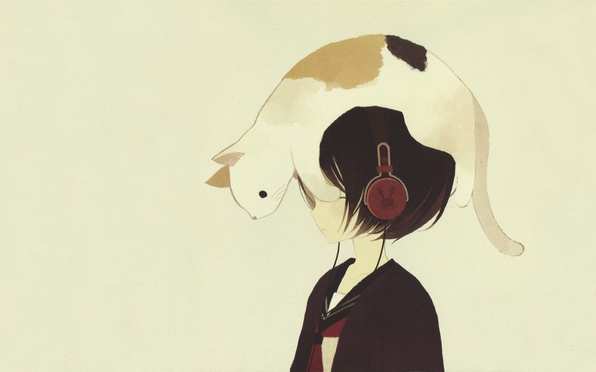 ahh cat+headphones=happiness {The earth has music for those who