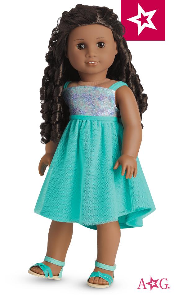 Blue Sea Dress for 18-inch Dolls | American Girl Brand Doll #67 ...